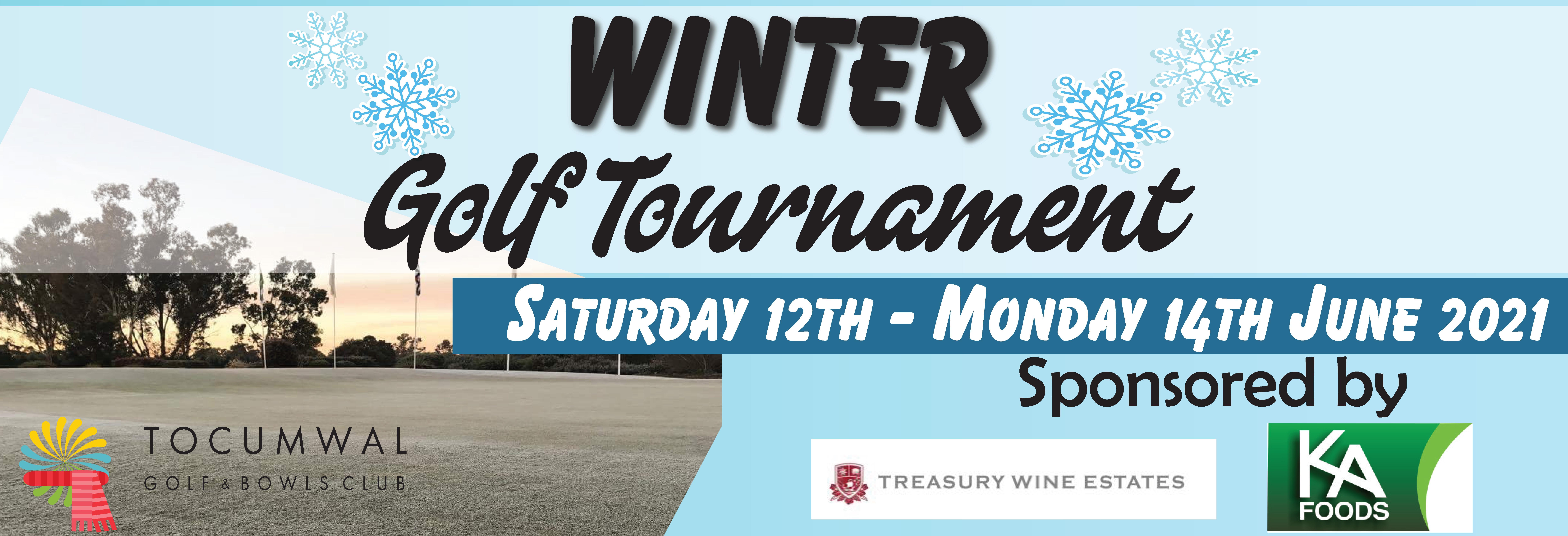 Winter Golf tournament Banner